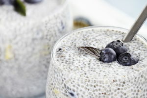 Chia Pudding with Rolled Oats
