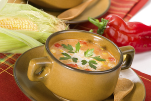 Creamy and Spicy Corn Soup