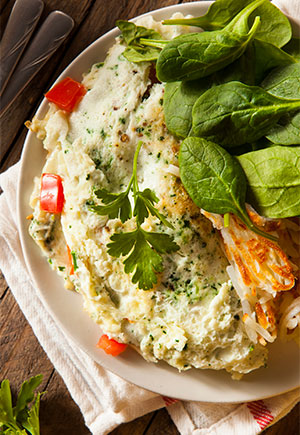 Autumn Egg White Omelette