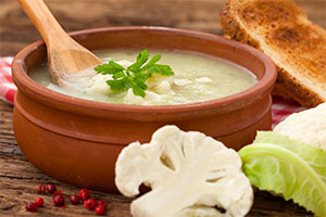 Roasted Cauliflower & Fennel Soup