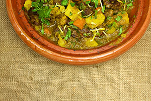 Lamb or Beef Stew with Apricots and Saffron