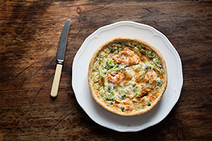 Zucchini and Onion Quiche