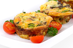 Low Carb Spinach and Mushroom Omelet Muffins